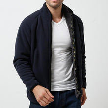 Load image into Gallery viewer, Mens Fleece Thick Warm Winter Stand Collar Jacket