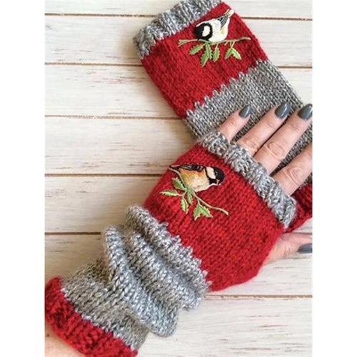 Casual Basic Flora Knitted Gloves