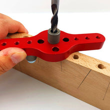 Load image into Gallery viewer, Vertical Pocket Woodworking Drilling Locator Self Centering Drill Guide Kit Hole Puncher