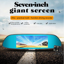 Load image into Gallery viewer, 7 Inches Touch Screen Car DVR HD 1080P Dual Lens Vehicle Rearview Mirror Camera Recorder