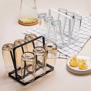 Glass Cup Stand Holder Shelf Creative Storage Rack