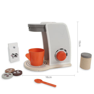 Educational Creative Cafe Maker Wooden Coffee Machine Maker Toy