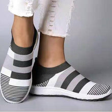Load image into Gallery viewer, Women Casual Splicing Breathable Knit Flat Sneakers