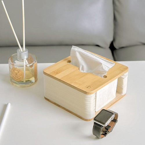 Household Creative Rectangular Wooden Tissue Box Simple Pumping Tray