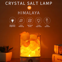 Load image into Gallery viewer, USB Crystal Light Natural Salt Lamp Air Purifier Mood Creator Indoor Warm Lamp