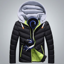 Load image into Gallery viewer, Men Warm Hooded Coats Plus Size Long Sleeve Coats