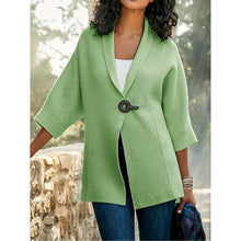 Load image into Gallery viewer, Solid Color Lapel Loose Knitting Cardigan