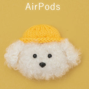 Cute Fluffy Earphone Case for AirPods 2 Cover Teddy Dog Plush