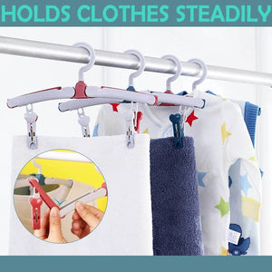 Rotatable Folding Hangers With Clips