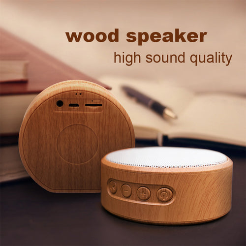Wood Grain Wireless Bluetooth Speaker Portable Mini Subwoofer Audio Gift Stereo Loudspeaker