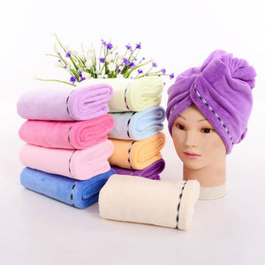 FREE SHIPPING-Magic Quick Dry Hair Hat Hair Towel