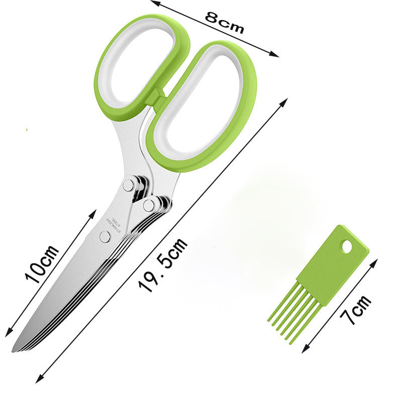 Vegetable Office Shredded Paper Five-layer Scissors