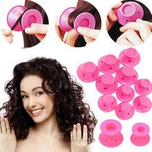 Load image into Gallery viewer, Set of 10 Silicone Hair Curlers