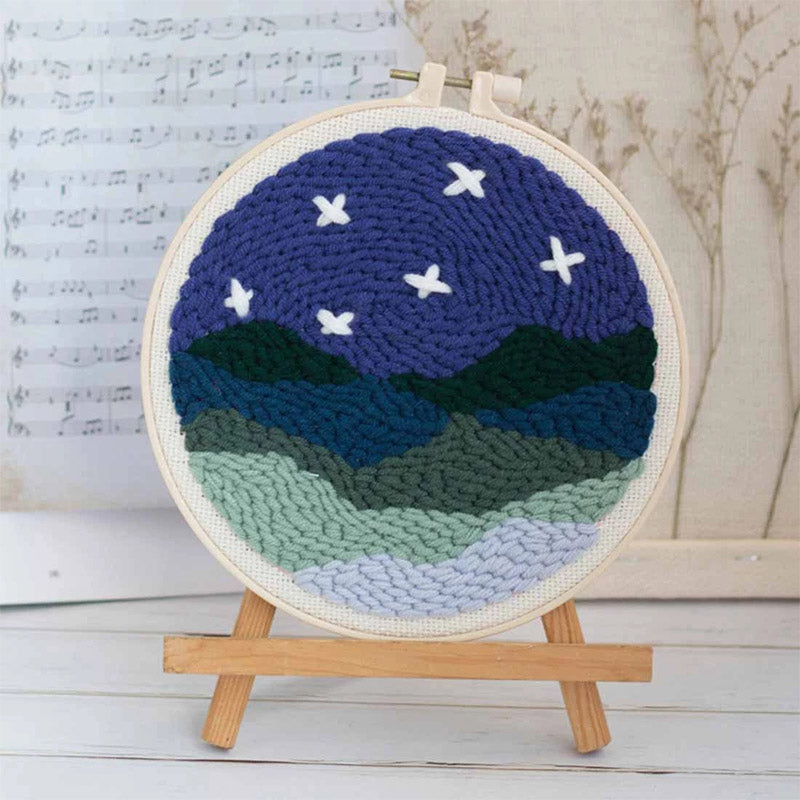 DIY Punch Needle Embroidery Kit-Rural Night