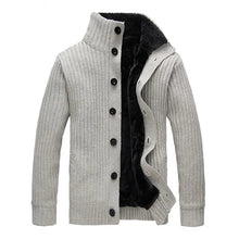 Load image into Gallery viewer, Men Casual Sweater Fleece Button Cardigans Coats