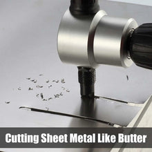 Load image into Gallery viewer, Nibbler Cutter Drill Attachment Double Head Metal Sheet