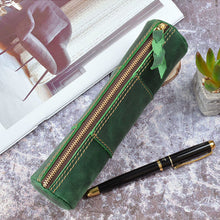 Load image into Gallery viewer, Vintage Creative Stitching Pen Bag Storage Pouch Zipper Pencil Case