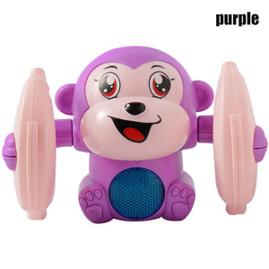 Baby Voice Control Rolling Little Monkey Toy
