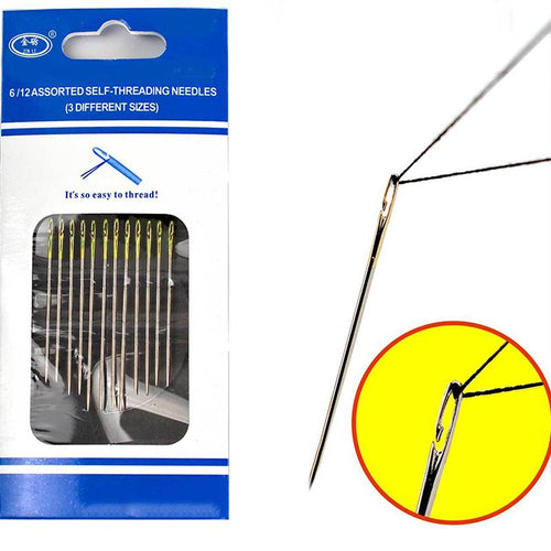 Blind Needles Golden Tail Easy to Go Through From Side Hand Sewing Embroidery Tool