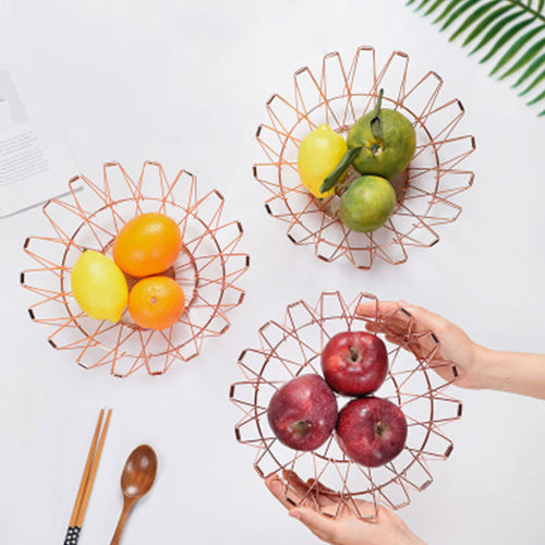 Folding Multiple Shape Change Metal Storage Basket