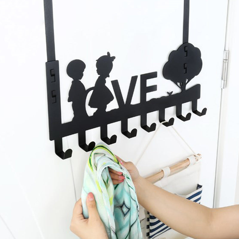 6/8-Hook Bathroom Organizer Hanger Door Hanging Storage Rack Holder