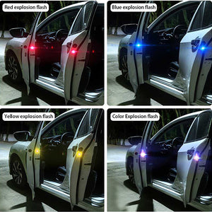 4pcs Car Door LED Opening Warning Lamp Safely Flash Light Car Accessories