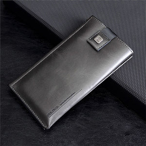 Men New Fashion Multimedia Leather Pouch for Phone
