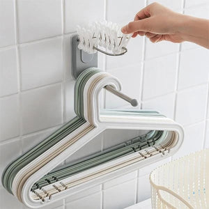 2pcs Wall Mounted Clothes Hanger Organizer