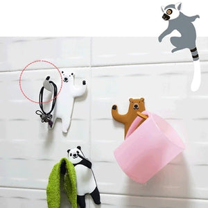 2 In1 Wild Animalz Wall Hooks(2pcs)