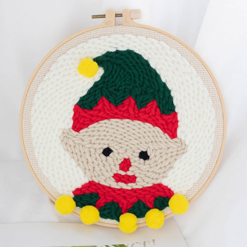 DIY Punch Needle Embroidery Kit-Christmas Boy