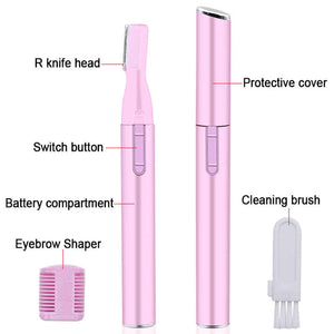 Mini Portable Electric Face Eyebrow Scissors Hair Trimmer