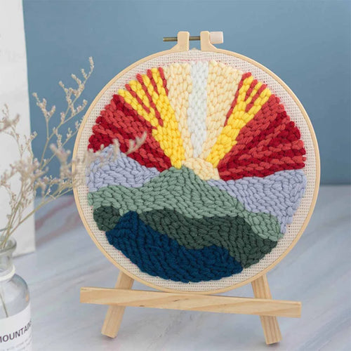 DIY Punch Needle Embroidery Kit-Sunset