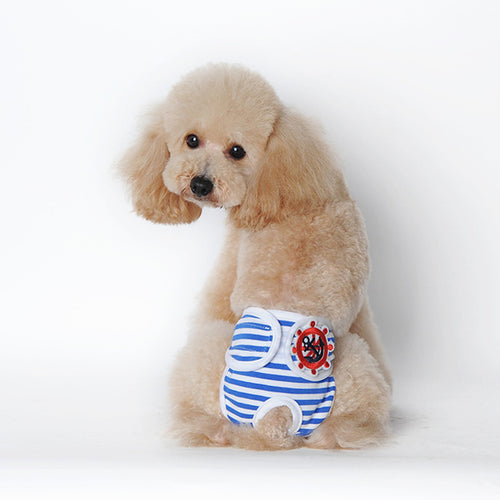 Pet Clothes Striped Teddy Menstrual Dog Panties