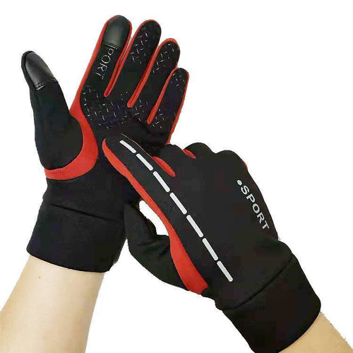 Winter Anti-slip Touch Screen Mittens Outdoor Ski Reflective Gloves