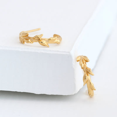 14K Gold Artemis Hoops