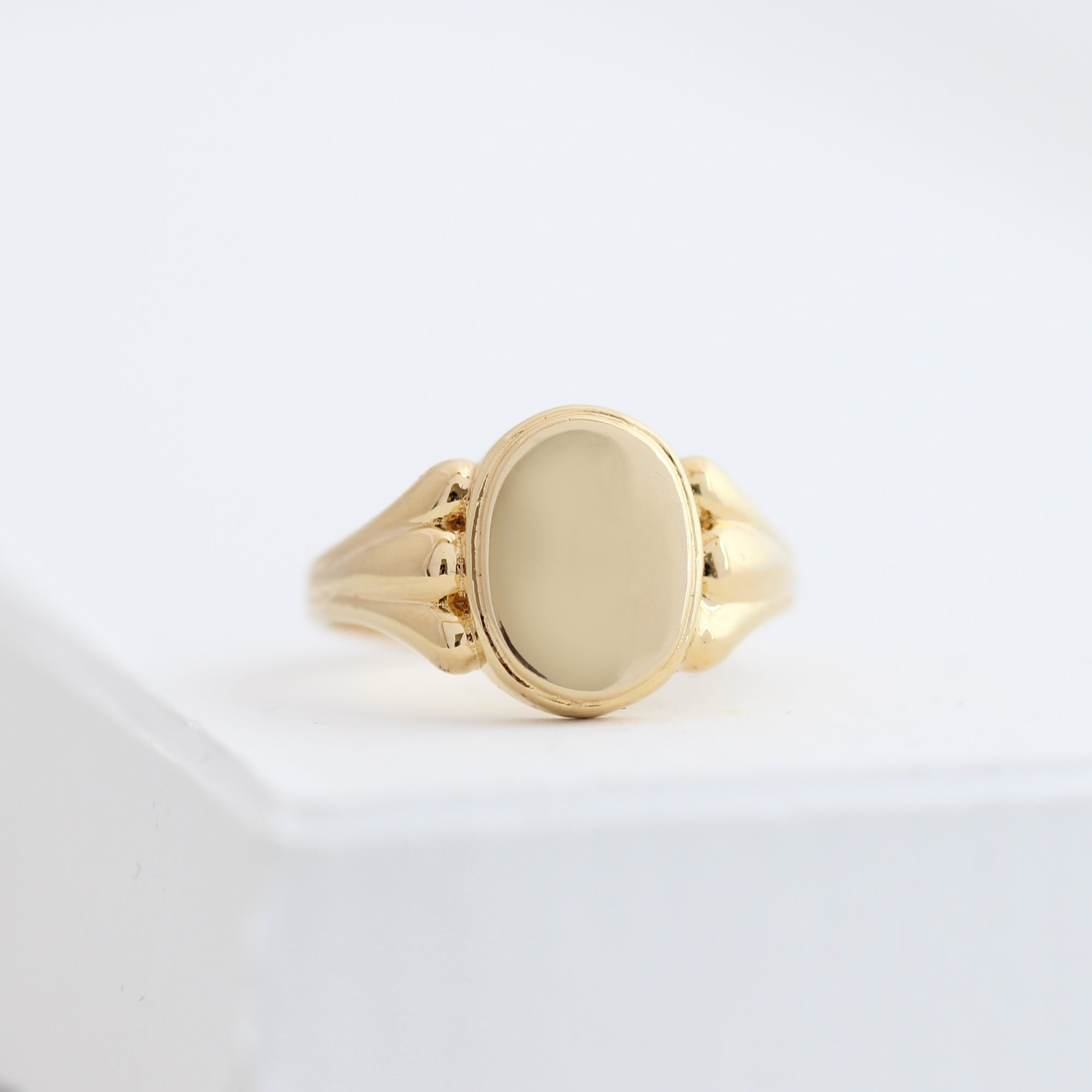 14k Gold Pinky Signet Ring