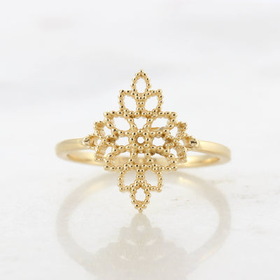 Leaf Bouquet Gold Ring