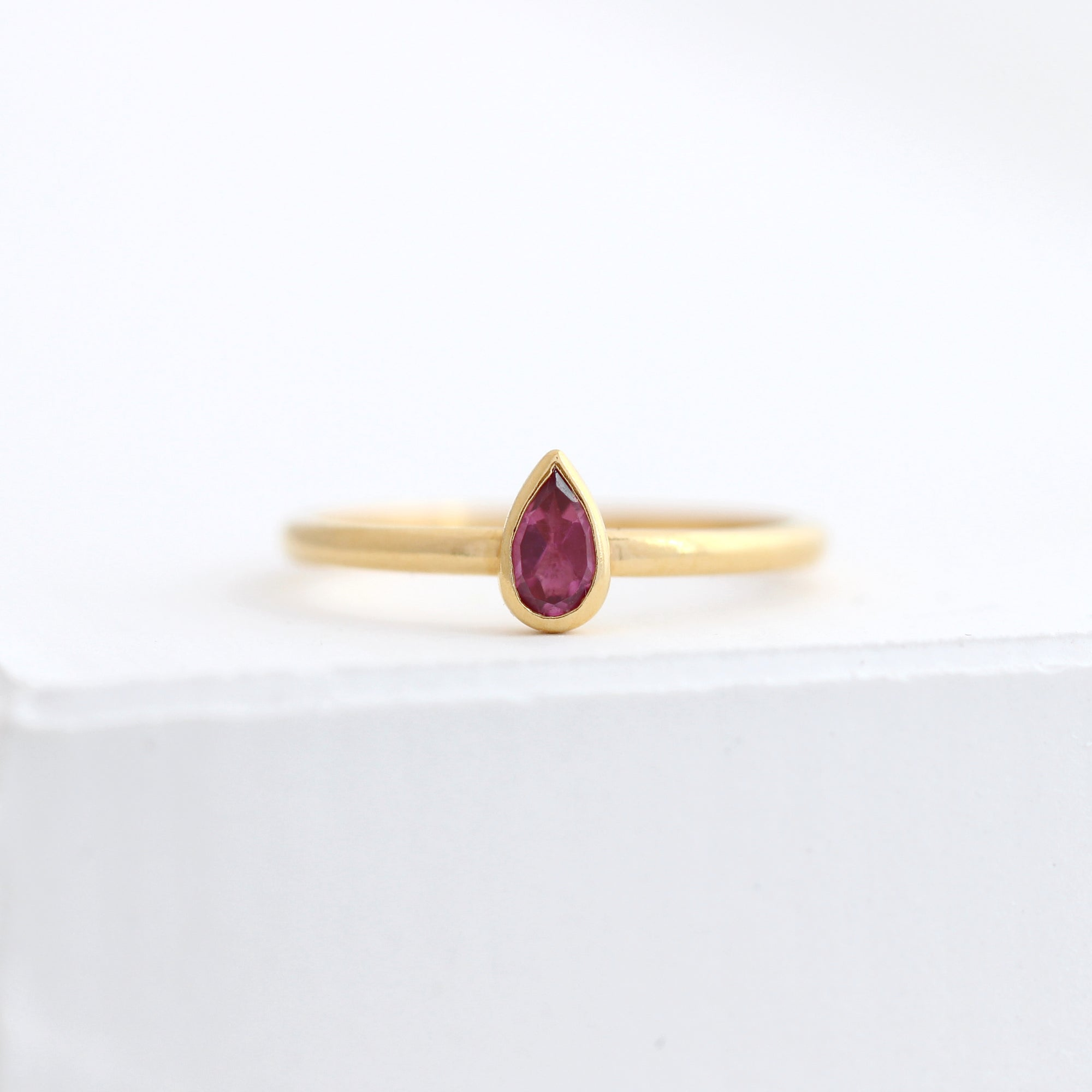 Pear Tourmaline Ring
