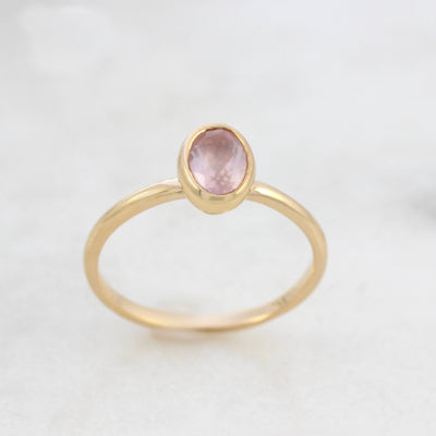 Oval Rose Quartz Ring