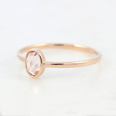 Rose Gold Tourmaline Ring