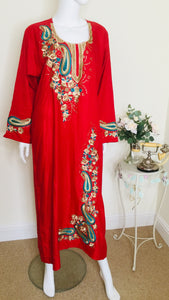 vintage kaftan with embroidery