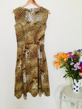 Load image into Gallery viewer, Vintage 80s leopard print dress