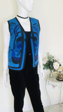 Load image into Gallery viewer, Vintage silk quilted floral waistcoat