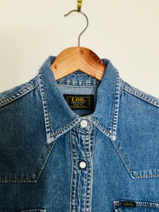 Vintage Lee blue denim fitted shirt