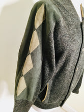 Load image into Gallery viewer, Vintage College Bomber Style Cardigan/Jacket