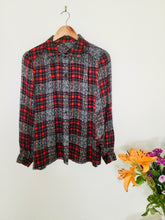 Load image into Gallery viewer, Vintage tartan print blouse
