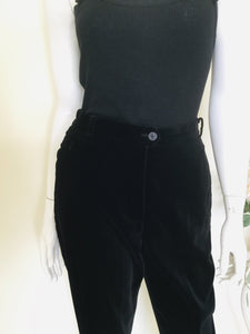 Vintage velvet high waisted trousers