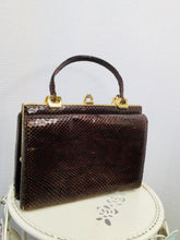Load image into Gallery viewer, 1950s Snakeskin Handbag