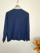 Load image into Gallery viewer, Vintage Plaid Blouse with Peter Pan Collar