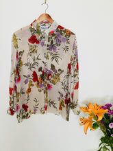 Load image into Gallery viewer, 90s Vintage floral semi sheer blouse